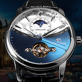 Men's Mechanical Watch Automatic self-winding Formal Style Stylish Luxury Water Resistant / Waterproof Analog Black / White Black / Blue Black / Silver / Stain