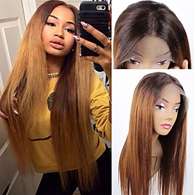 Remy Human Hair 4x13 Closure Lace Front Wig Middle Part Side Part Free Part style Brazilian Hair Straight Wig 150% Density Women Best Quality New New Arrival H