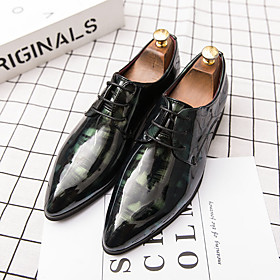 Men's Spring / Summer Casual / British Daily Office  Career Oxfords Walking Shoes Faux Leather Breathable Non-slipping Wear Proof Black / Red / Black / Black /