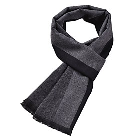 Men's Basic Rectangle Scarf - Striped