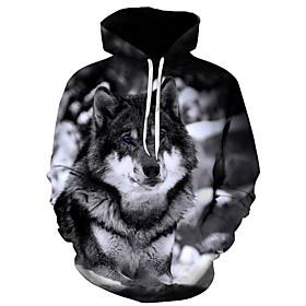 Men's Hoodie Print Hooded Basic Hoodies Sweatshirts  Black