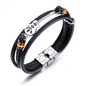 Men's Bracelet Geometrical Guitar Fashion Titanium Steel Bracelet Jewelry Black For Daily Work