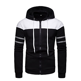 Men's Hoodie Solid Colored Round Neck Basic Hoodies Sweatshirts  Black Blue Orange