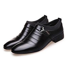 Men's Loafers  Slip-Ons Formal Shoes Daily PU White / Black / Brown Summer