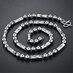 Men's Chain Necklace Long Necklace Classic Precious Unique Design Fashion Silver Plated Chrome Silver 56,61 cm Necklace Jewelry 1pc For Daily Street Work