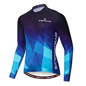 Men's Long Sleeve Cycling Jersey Winter Fleece Lycra Red Blue Gradient Bike Jersey Mountain Bike MTB Road Bike Cycling Fleece Lining Quick Dry Warm Sports Clot