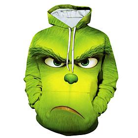 Men's Hoodie 3D Hooded Basic Hoodies Sweatshirts  Green