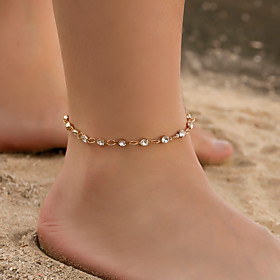 Ankle Bracelet Women's Body Jewelry For Holiday Alloy Gold Silver 1pc