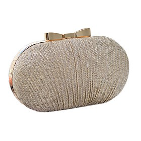 Women's Bags Polyester Clutch Solid Color for Party / Daily Black / Gold / Silver / Wedding Bags