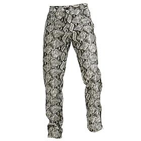 Men's Basic Slim Chinos Pants Animal Gray US32 / UK32 / EU40 US34 / UK34 / EU42 US36 / UK36 / EU44
