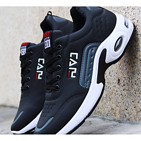 Men's Comfort Shoes PU Winter Casual Athletic Shoes Running Shoes Warm Slogan Black / Blue Category:Trainers / Athletic Shoes; Upper Materials:PU; Season:Winter; Gender:Men's; Activity:Running Shoes; Toe Shape:Round Toe; Style:Casual; Outsole Materials:PU; Occasion:Daily; Closure Type:Lace-up; Function:Warm,Wear Proof; Pattern:Slogan; Shipping Weight:1.0; Listing Date:10/13/2019; 2020 Trends:Comfort Shoes; Foot Length:; Size chart date source:Provided by Supplier.