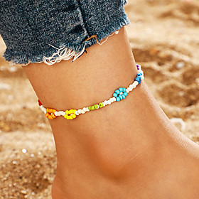 Ankle Bracelet Simple Classic Trendy Women's Body Jewelry For Daily Street Retro Alloy Weave Gold 1pc