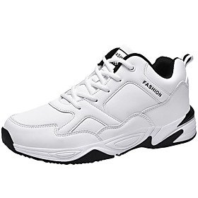 Men's Comfort Shoes PU Fall Athletic Shoes Walking Shoes White / Black Category:Trainers / Athletic Shoes; Upper Materials:PU; Season:Fall; Gender:Men's; Activity:Walking Shoes; Toe Shape:Round Toe; Outsole Materials:Rubber; Occasion:Outdoor; Closure Type:Lace-up; Shipping Weight:0.4; Listing Date:11/09/2019; 2020 Trends:Comfort Shoes; Foot Length:; Size chart date source:Provided by Supplier.