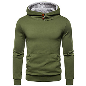 Men's Hoodie Solid Colored Hooded Basic Hoodies Sweatshirts  Black Wine Army Green