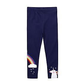Kids Girls' Print Pants Navy Blue
