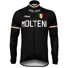 Men's Long Sleeve Cycling Jersey Winter Polyester Purple Yellow Red Bike Jersey Pants Top Mountain Bike MTB Road Bike Cycling UV Resistant Breathable Quick Dry
