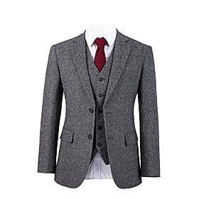 Gray starlight tweed wool custom suit