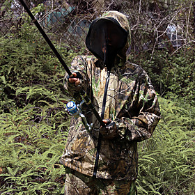 Men's Hunting Jacket with Pants Hunting Suit Outdoor Waterproof Windproof Warm Anti-Mosquito Spring Fall Winter Camo / Camouflage Clothing Suit Cotton Camping