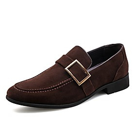 Men's Loafers  Slip-Ons Formal Shoes Suede Shoes Business / British Daily Office  Career Suede Breathable Non-slipping Wear Proof Black / Brown Spring  Summer