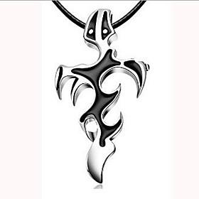 Men's Pendant Necklace Charm Necklace Classic Cross Unique Design Vintage Chrome Black 45 cm Necklace Jewelry 1pc For Street