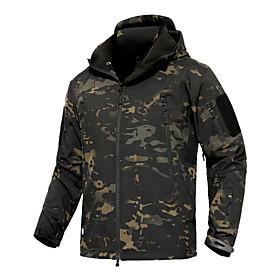 Men's Hunting Jacket Outdoor Thermal / Warm Windproof Comfortable Protective Spring Fall Winter Camo Terylene Camouflage