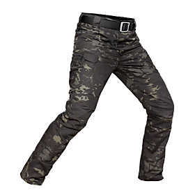 Men's Camouflage Hunting Pants Thermal / Warm Waterproof Wearproof Spring Summer Fall Camo / Camouflage for Camouflage Gray S M L XXL XXXL / Winter