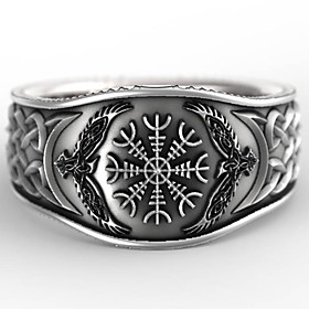 Men's Band Ring Ring 1pc Silver Silver Plated Statement Stylish Rock Gift Daily Jewelry Vintage Style