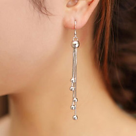 Women's Earrings Tassel Precious Earrings Jewelry Silver For Daily