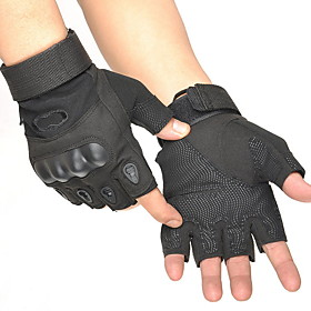 Men's Basic Half Finger Gloves - Solid Colored