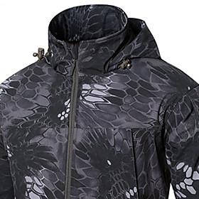 Men's Hunting Jacket Outdoor Thermal / Warm Windproof Wearproof Comfortable Spring Fall Winter Camo Terylene Camouflage