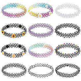 Men's Women's Choker Necklace Braided Simple Cord Rainbow 32 cm Necklace Jewelry 12pcs For Daily