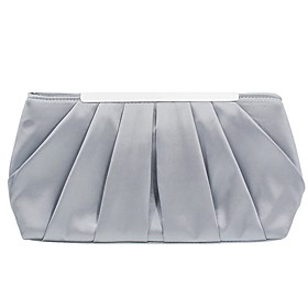 Women's Bags Satin Evening Bag Solid Color for Party / Daily Black / Blue / Blushing Pink / Silver / Wedding Bags