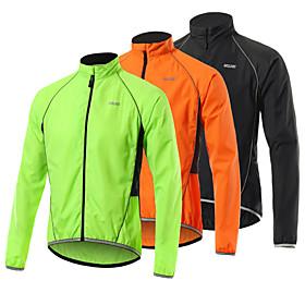 Arsuxeo Men's Cycling Jacket Bike Jacket Windbreaker Softshell Jacket Waterproof Windproof Breathable...