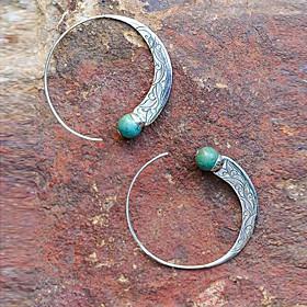 Women's Earrings Geometrical Precious Earrings Jewelry Green For Daily