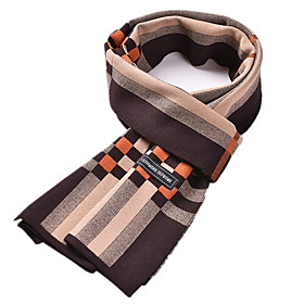 Men's Basic Rectangle Scarf - Print