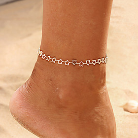 Ankle Bracelet Simple Classic Trendy Women's Body Jewelry For Daily Holiday Classic Alloy Star Gold Silver 1pc