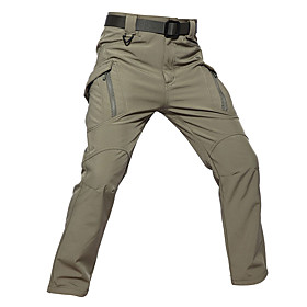 Men's Hunting Pants Windproof Sunscreen Wearproof Comfortable Spring Summer Fall Solid Colored for Khaki S M L XL XXL / Winter