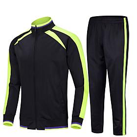 Men's 2-Piece Full Zip Tracksuit Sweatsuit Jogging Suit Casual Long Sleeve Winter Front Zipper Thermal Warm Windproof Soft Fitness Running Jogging Sportswear S