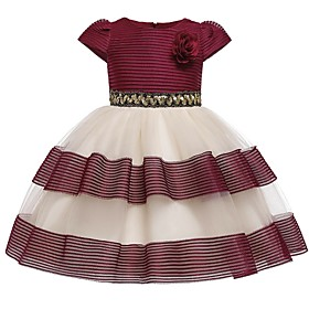 Kids Girls' Striped Dress Blushing Pink