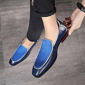 Men's Loafers  Slip-Ons Formal Shoes Dress Shoes Moccasin Business / Casual Daily Party  Evening Walking Shoes Suede Breathable Non-slipping Black / Blue / Bro