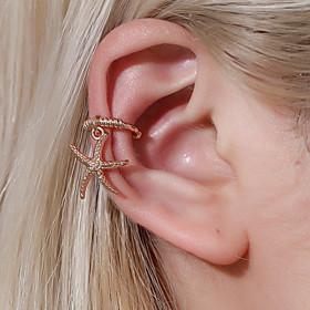 Women's Ear Cuff Earrings Classic Starfish Earrings Jewelry Golden / Gold / White For Party Daily Street Holiday Festival