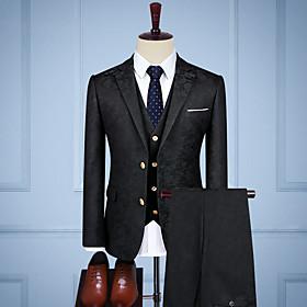 Black vintage jacquard Custom Suit