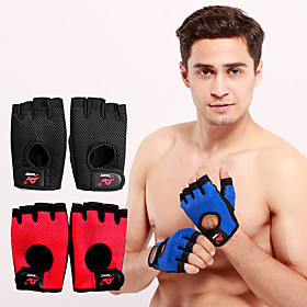 AOLIKES Workout Gloves Weight Lifting Gloves 2 pcs Sports Lycra Polyester Microfiber Exercise  Fitness Weightlifting Boxing Training Durable Full Palm Protecti