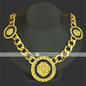 Men's Pendant Necklace Chain Necklace Classic Lion Precious Unique Design Fashion Gold Plated Chrome Gold Silver 50 cm Necklace Jewelry 1pc For Daily Street
