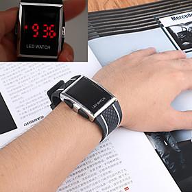 Men's Sport Watch Wrist Watch Digital Watch Digital Casual Water Resistant / Waterproof Digital White Red Blue / One Year / Stainless Steel / Silicone / Chrono