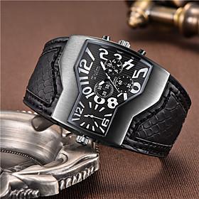 Men's Military Watch Quartz Luxury Compass Analog White Black Yellow / One Year / Leather / Japanese / Shock Resistant / Japanese