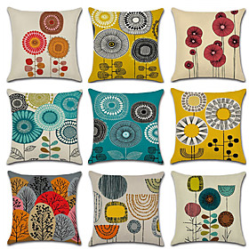 floral geometric decorative pillow covers