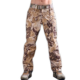 Men's Hunting Pants Outdoor Waterproof Breathable Wear Resistance Spring Fall Winter Pants / Trousers Hunting Leisure Sports Jungle camouflage Digital Desert B
