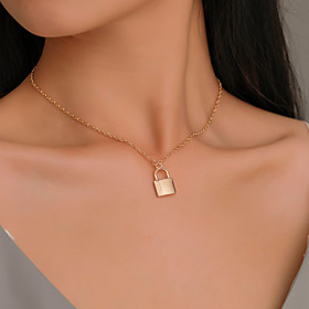 Men's Women's Choker Necklace Pendant Necklace Copper White Gold 38 cm Necklace Jewelry For Halloween Prom Street Club