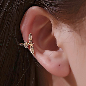 Men's Women's Clip on Earring Ear Cuff Classic Bird Earrings Jewelry Black / Gold / Silver For Graduation Daily Prom Holiday Club